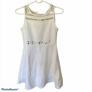 NWT Childrens Place white dress embellishments